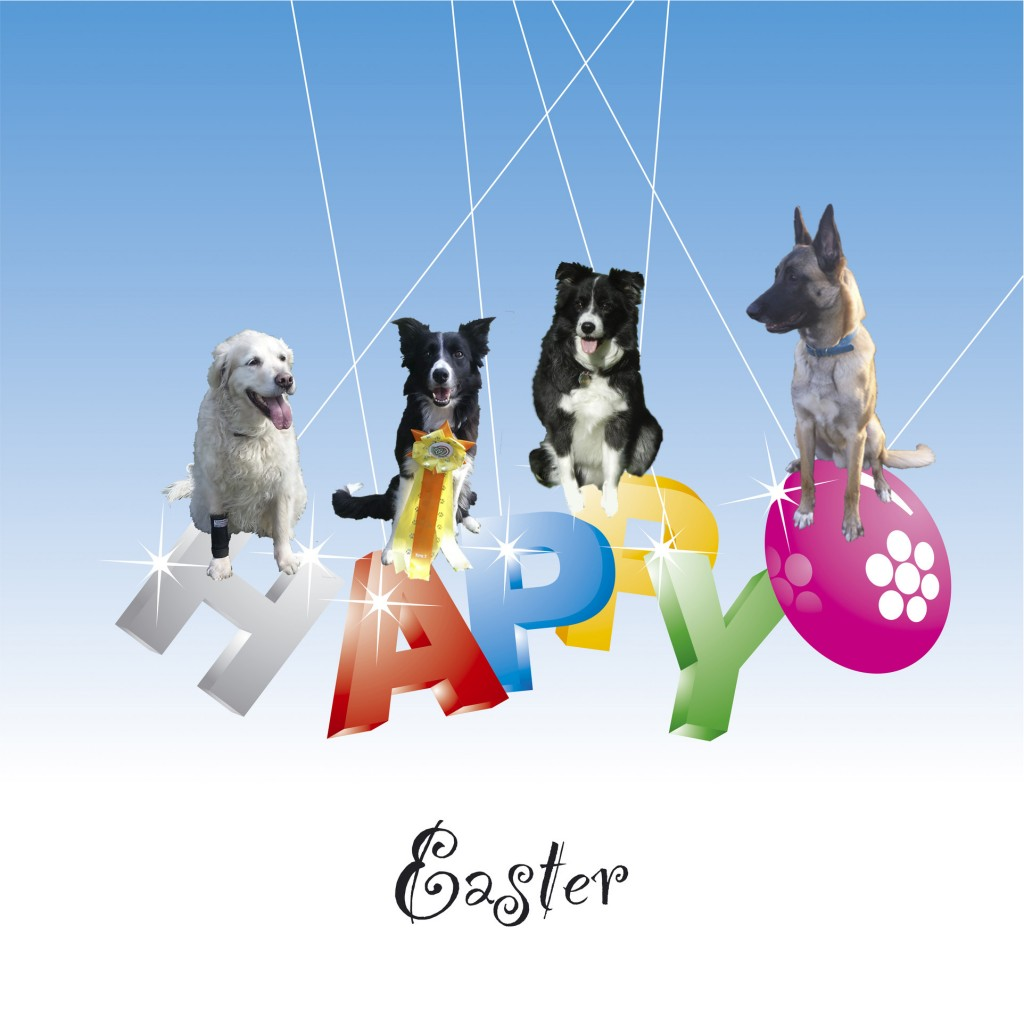 Happy Easter color letter
